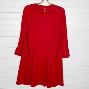 Kate Spade Broome Street Red Fit and Flare Dress